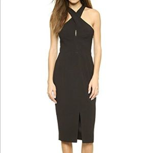 KEEPSAKE BLACK COCKTAIL DRESS